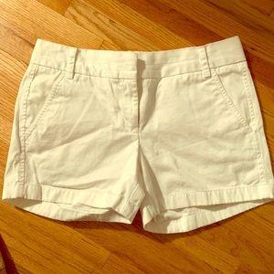 White J Crew Chino shorts size 2